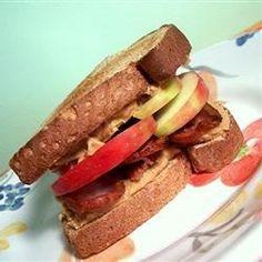 Peanut Butter, Bacon and Apple Sandwiches Allrecipes.com