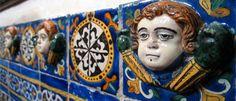 Talavera tile inside the Capilla del Rosario, Puebla, Mexico