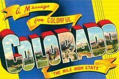 Colorado Postcard Colorado Postcards Colorado by souvenirpostcards