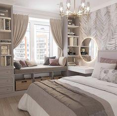 Small Room Design Bedroom, Girl Bedroom Designs, Room Ideas Bedroom, Home Room Design, Home Decor Bedroom, Bedroom Ideas For Small Rooms For Teens, Girls Bedroom, Ikea Girls Room, Luxury Kids Bedroom