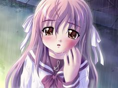 Anime girl crying in the rain Anime Girl Crying, Sad Anime Girl, Anime School Girl, I Love Anime, Anime Girls, Anime Style, Kawaii Anime, Manga Art, Anime Art