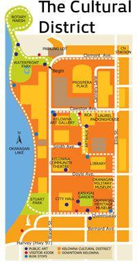 Take a self guided tour through Kelowna's Cultural District.