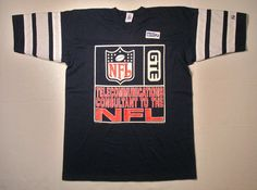 1990 NFL Jersey T Shirt football team navy blue white pro sports athletic L/XL 90s Deadstock