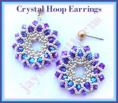 These lovely sparkly earrings are easy and quick to make (1 to 2 hours for a pair) - perfect for last minute gifts or a party! They measure 1x1