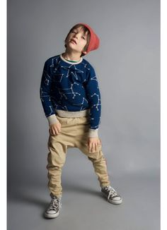 Kid Knitted Jumper + Baggy Tacksuit + Knitted Beanie - Bobo Choses