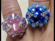 'The Elegant Ring' Tutorial Tutorial Anillo, Earring Tutorial, Bracelet Tutorial, Resin Tutorial, Beaded Rings, Beaded Jewelry, Beaded Bracelets, Jewelry Patterns, Beading Patterns