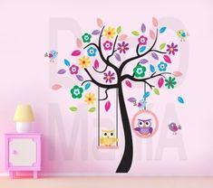 vinilos decorativos arboles infantiles - frases - nombres