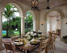 stunning outdoor dining
