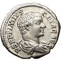 GETA as CAESAR 207AD Ancient Silver Roman Coin Minerva Magic wisdom war i24544