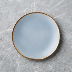Addison Grey Gold Rim Salad Plate