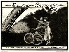 Original-Werbung/ Anzeige 1897 - EXCELSIOR PNEUMATIC / MOTIV FAHRRAD - HANNOVER - ca. 140 x 100 mm