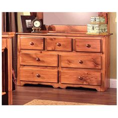 Chelsea Home Furniture Clinton 7 Drawer Dresser - 85300-DM-TB