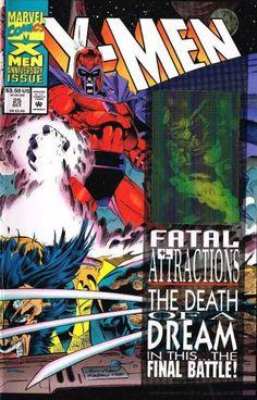 #Xmen #fatalAttractions #magneto #Wolverine #Cyclops #Gambit #Xavier #Brotherhood #Mutants #MutantsAndProud Características generales: Paquete incluye: X-Factor 92, X-Force 25, Uncanny X-men 304, X-Men 25, Wolverine 75 (Muy difícil de conseguir) y Excalibur 71./Single issues y todas las portadas traen su respectivo holograma/1993/Arco: Fatal Attractions