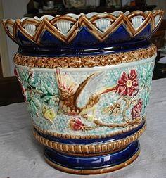 De Bruyn Fives Lille Cache pot décoré d'oiseaux, d'insectes et fleurs n°1188