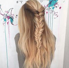 Fishtail braid || hair ideas