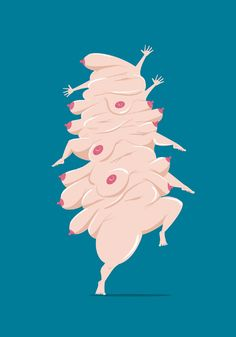 Free the boobies by Vainui de Castelbajac