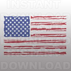 Distressed American Flag SVG,USA Flag SVG File-Cutting Template-Vector Clip Art Commercial & Personal Use-Cricut,Cameo,Silhouette,Vinyl by sammo on Etsy https://www.etsy.com/listing/287308803/distressed-american-flag-svgusa-flag-svg