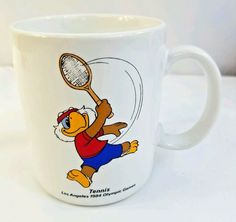 Sam The Olympic Tennis Eagle 1984 USA Los Angeles Games Papel Coffee Mug #Papel