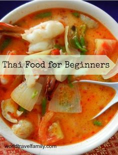 Thai food for beginners. Thailand on a plate, by Chef and I. We put this guide together to help out new travellers in Thailand. From World Travel Family, endless nomadic adventures with 2 small people. http://worldtravelfamily.com/beginners-guide-thai-food/