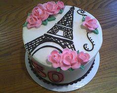 Paris Birthday Cakes, Paris Themed Cakes, Paris Cakes, Cake Birthday, Pretty Cakes, Cute Cakes, Bolo Paris, Eiffel Tower Cake, Eiffel Towers