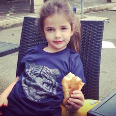 #CAKOKids Sienna wears CAKO Kids Navy Blue Bejewelled T-shirt with Tiger pink nose #toocute #lovingthecroissant   For more details on CAKO Kids or to become a stockist please contact us: thegirls@cakoboutique.com  Please follow us on Twitter @CAKOTeam & Instagram: CAKOBOUTIQUE   www.cakoboutique.com Much Love CAKO Team xx