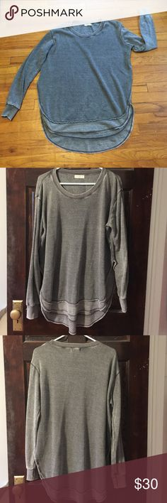 NWOT Super cozy lounge shirt This is just perfect to cozy up in on a cold winter day ❄️ Pretty washed out gray color. CoZy, relaxed fit and oh so soft. Size medium. I have this in multiple colors so I'm letting this one go. Tops Sweatshirts & Hoodies