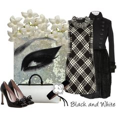 Wow!!! Great style!  Black and White, created by #moodycat on #polyvore. #fashion #style Anna Sui Burberry Prorsum
