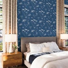 Candice Olson Enchanted Wallpaper by York – Lelands Wallpaper – Home Office Wallpaper Apartment Living, Living Room, Office Wallpaper, Candice Olson, Accent Wall Bedroom, Home Pictures, Enchanted, Home Office, Picture Frames