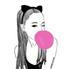 clin d'oeil, bulle de chewing gum a faire en sphère avec quoi ? et oreilles chat (trouver des vraies ! aller à claires saint laz pr tous les accessoires marrants ds le thème pas cher ! et petite boucle d'oreille oui ! pinterest :♡ ellaanicholls ♡