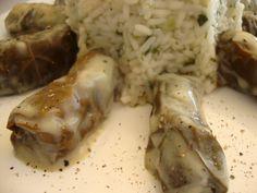 ντολμαδάκια κοτόπουλο & το ρυζάκι απ έξω Grains, Pork, Rice, Meat, Chicken, Kale Stir Fry, Pigs, Pork Chops, Laughter