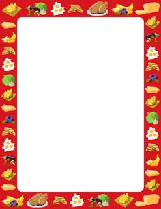 Printable food border. Free GIF, JPG, PDF, and PNG downloads at http://pageborders.org/download/food-border/