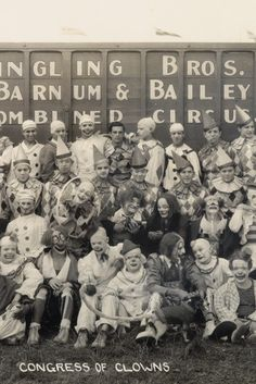 This is a cool photo... but why are the clowns in the front row the only ones with facepaint? XD
