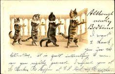Koťata s Cats Svíčky Louis Wain