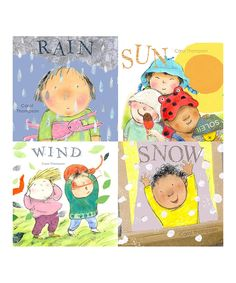 Another great find on #zulily! Four-Piece Whatever the Weather Board Books Set by Child's Play #zulilyfinds