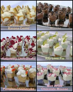 Frugal and Fabulous: Griffin Catering When it comes to your big day, every bride knows that attention to detail is key. Our friends at Griffin Catering have taken this concept t. Catering Companies in Utah: Why choosing Rockwell Catering can make all the Mini Desserts, Shot Glass Desserts, Mini Dessert Recipes, Individual Desserts, Wedding Desserts, Just Desserts, Parfait Desserts, Mason Jar Desserts, Wedding Appetizers