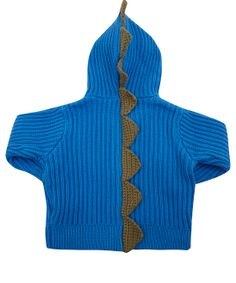 Stella McCartney Kids Age 6M to 18M Blue Dino Spike Hooded Jumper
