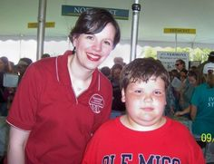 Magnolia Heights student Gabe Phillips met Tracy Carr of the Mississippi Library Commission when he went to Washington for the annual National Book Festival.