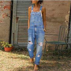 Womens Denim Overalls, Ripped Denim, Denim Overalls Outfit, Washed Denim, Cute Overalls, Jean Overalls, Jeans Pants, Denim Jeans, Romper Outfit