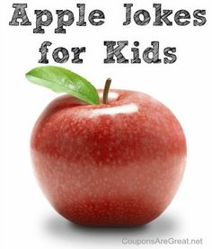 Would be fun to print up on cute apple paper and send home with preschoolers!////Apple Jokes for Kids – Perfect for Johnny Appleseed Day
