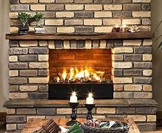 Custom and golden blend for a stunning fireplace