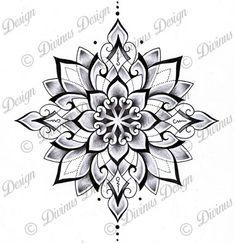 Tribal Geometric Mandala Tattoo Design and Stencil - Instant Digital Mandala Tattoo Design, Mandala Art, Dotwork Tattoo Mandala, Geometric Mandala Tattoo, Tattoos Geometric, Geometric Tattoo Design, Flower Mandala, Mandala Tattoo Sleeve, Simple Mandala Tattoo