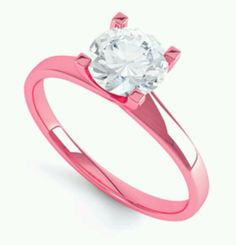 Pink gold ring