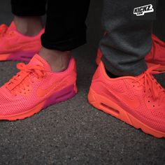 nike womens air max 90 ultra br hyper orange