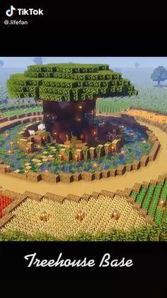 Minecraft House Plans, Minecraft Farm, Minecraft Mansion, Easy Minecraft Houses, Minecraft Survival, Amazing Minecraft, Minecraft Blueprints, Minecraft Crafts, Minecraft Designs