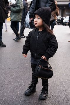 Alia Wang and her adorable mini Alexander Wang Rocco bag