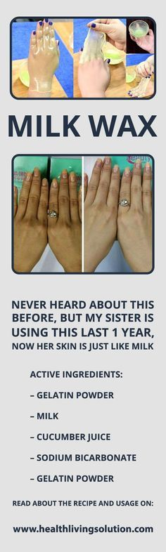 Milk Wax, Never Heard About This Before But My Sister Is Using This Last 1 Year, Now Her Skin Is Just Like Milk Active ingredients that you will require – Gelatin powder fruit taste – Milk – Cucumber juice – Sodium bicarbonate – Take 2 tbsp gelatin powder in a bowl – Include 2 tbsp …
