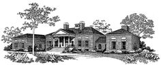 Greek Revival House Plan with 5083 Square Feet and 4 Bedrooms(s) from Dream Home Source | House Plan Code DHSW37620