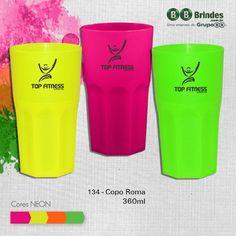 Copo Roma Grupo BB 360ml neon. brindes personalizados. #brindes #personalizados #coporoma #neon