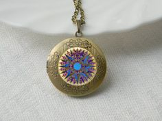 Vintage Compass Locket Necklace Gift for Her ~ Pinned on behalf of Pink Pad, the women's health mobile app with the built-in community