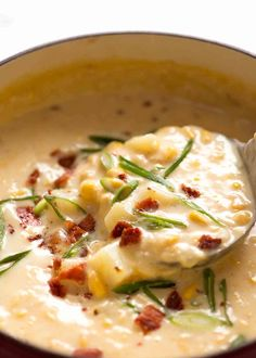 This Creamy Corn Chowder Soup involves little more than opening cans then using the empty cans to measure the liquids! Easy soup recipe of your dreams! Chowder Recipes, Easy Soup Recipes, Cooking Recipes, Healthy Recipes, Healthy Soup, Bariatric Recipes, Meal Recipes, Chili Recipes, Dinner Recipes